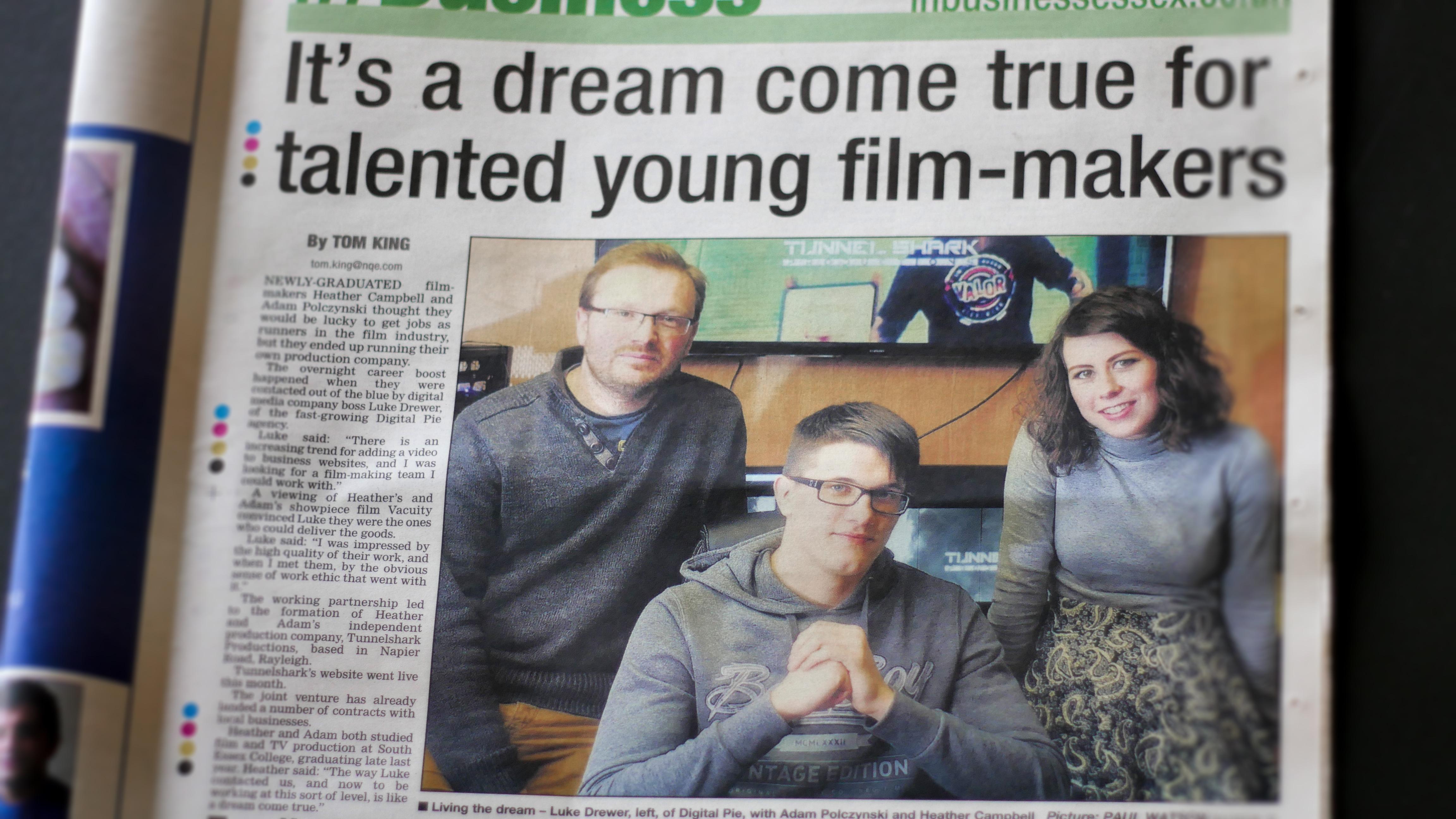 Video Production Team Essex Echo Newspaper