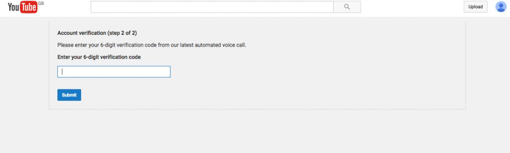 Verify Youtube account step 4